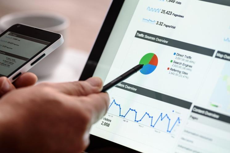 work laptop phone digital marketing