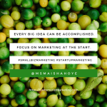 Every big idea can be accomplished quote