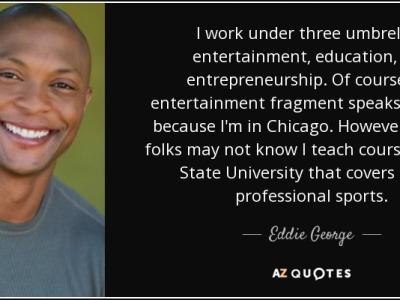 Eddie George NFL entrepreneur