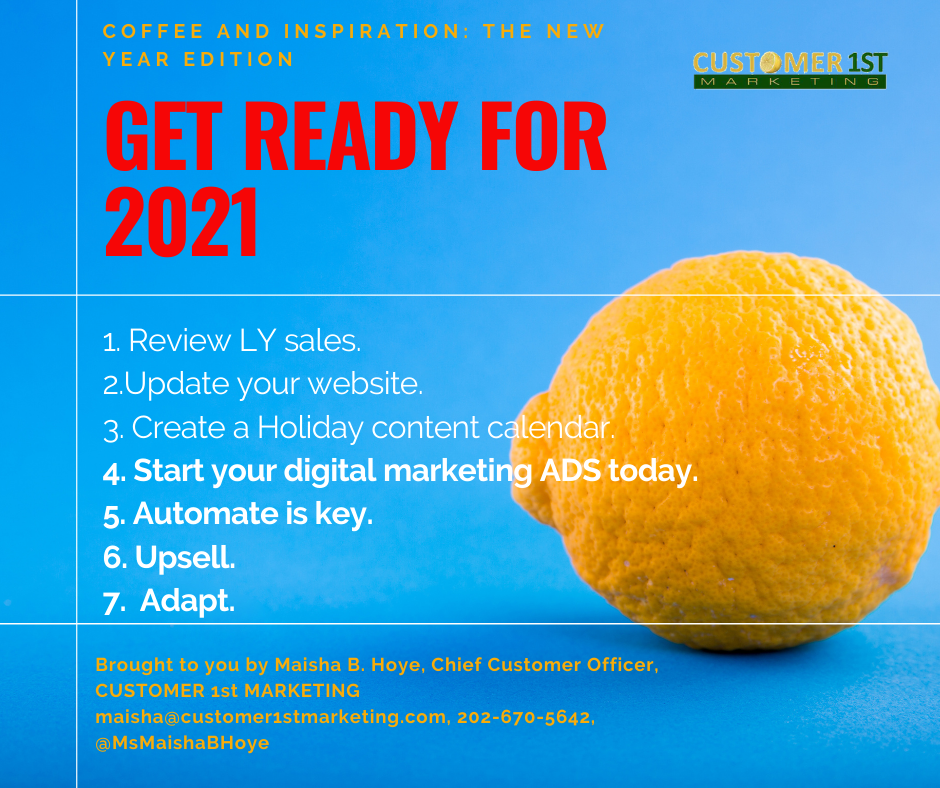 Get ready for 2021 Customer 1st Marketing