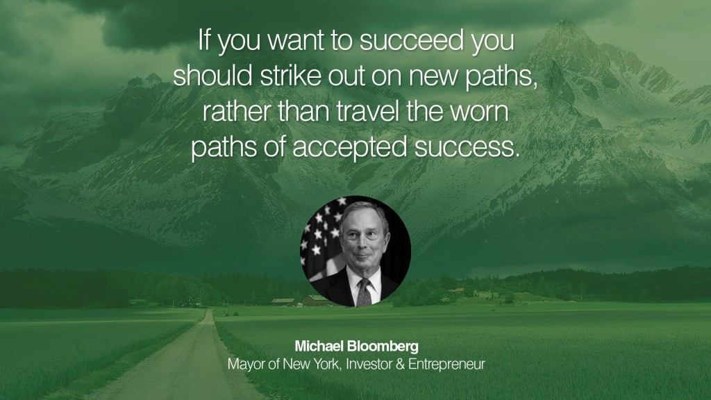 Michael bloomberg Travel quote