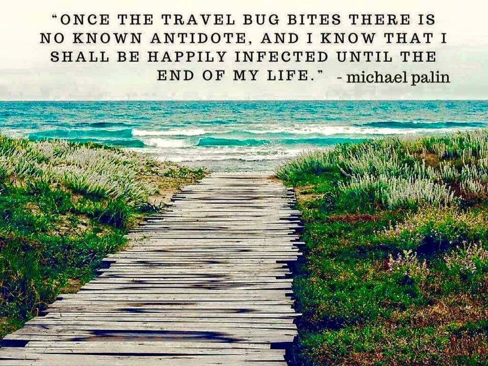 Michael Palin travel quote